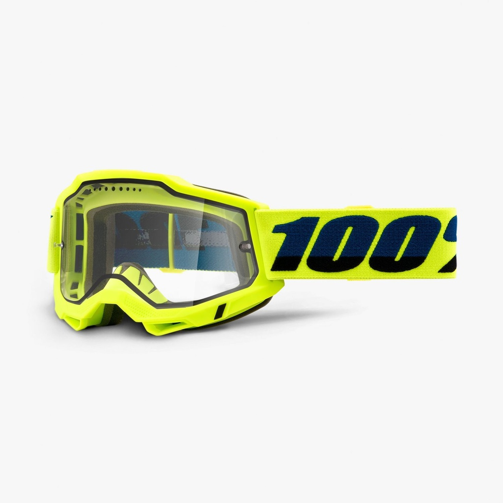 Antiparra ACCURI 2 ENDURO Fluo Yellow - Clear DUAL Lens